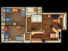 Cabernet 2 bedroom floor plan