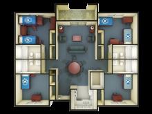 Sauvignon triple floor plan