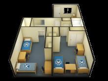 2 bedroom 3D